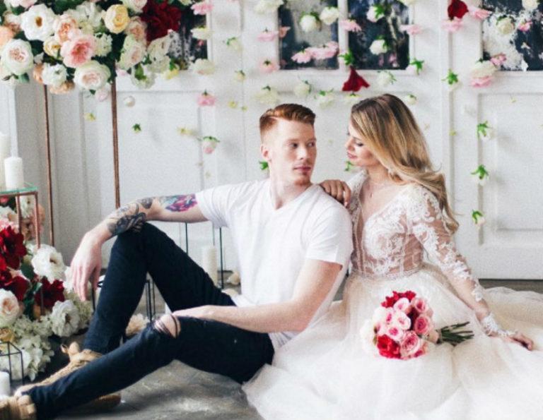 свадебная прическа алены красновой