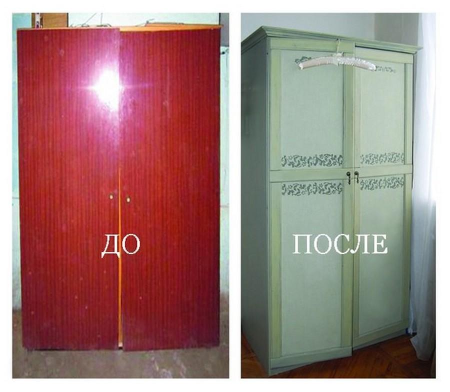 Обновление старых шкафов своими руками