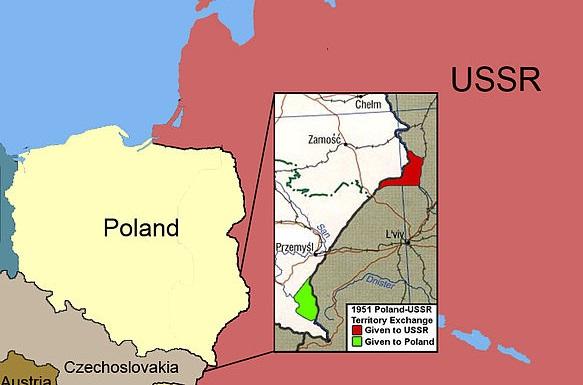 Зачем СССР и Польша в 1951 году обменялись территориями