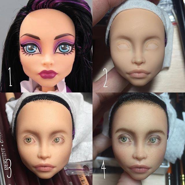 Украинская художница стирает макияж куклам и придаёт их лицам естественности