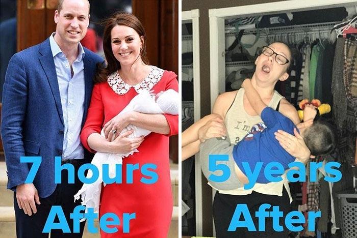Безупречная Кейт Миддлтон после родов разозлила женщин, и они публикуют свои реальные фото