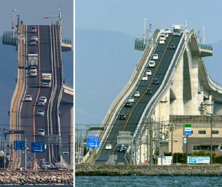 Самый страшный мост в мире, похож на американские горки