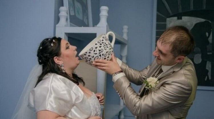 Уникальные фотографии со свадьбы