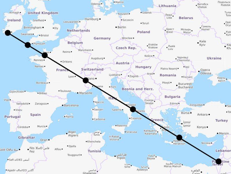7 мировых святынь оказались выстроенными на одной прямой. И это нечто большее, чем совпадение