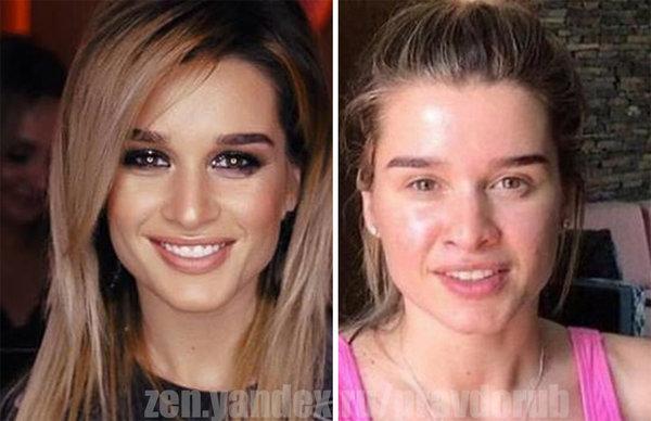 10 отечественных звезд, которые не очень привлекательны без макияжа