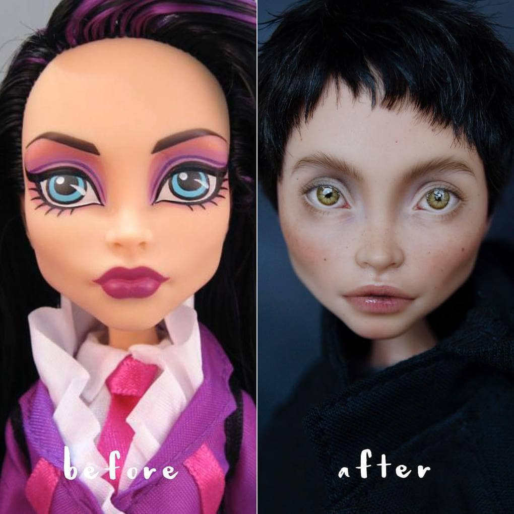 Художница рисует уникальные лица для кукол. Это талант!