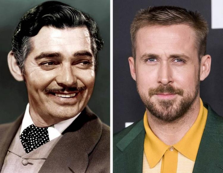 Звёзды 20 века и современности в одном и том же возрасте