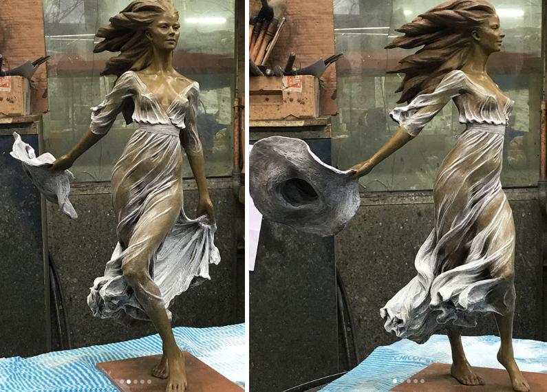 Китайский скульптор делает волшебные скульптуры женщин в технике эпохи Возрождения